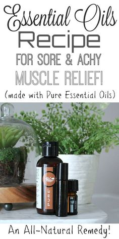 This is a really, really simple roller-ball essential oils recipe! It's blended mix of minty and soothing oils really helps to calm sore and achy muscles, as well as provide a very soft and relaxing scent to help de-stress at the same time! Sore Muscle Relief, Muscle Food, Muscle Men, Sugar Scrub Recipe, Essential Oil Uses, Holistic Healing, Men's Fitness, Muscle Fitness, Gain Muscle