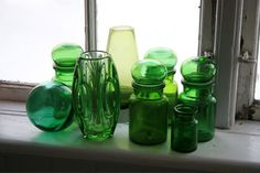 All things glass and green via Kolonidagar