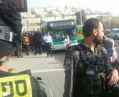 Disparan conduciendo contra un autobús en Jerusalem