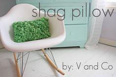 Shaggy pillow.