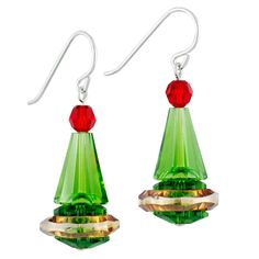 It's hard to believe these gorgeous Christmas fashion earrings aren't just from a store. These adorable little elf hats are made entirely from beads. No DIY fashion project looks more high class.