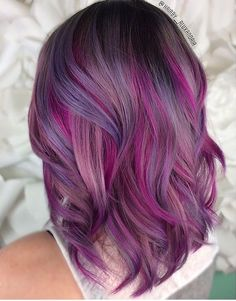 18 Shades of Hair Colorful Hair Show ♀ - Haar Ideen - Pinkish Purple Hair, Pulp Riot Hair Color, Hair Shows, Light Hair, Cool Hair Color, Hair Colors, Colours, Ombre Hair, Pretty Hairstyles