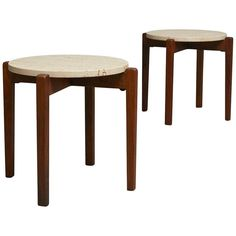 Pair of Arden Riddle Side Tables | From a unique collection of antique and modern Coffee and Cocktail Tables at https://www.1stdibs.com/furniture/tables/coffee-tables-cocktail-tables/.