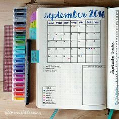 I like this layout for each month, but I'll use two pages instead.