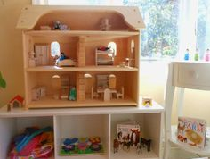 Natural Wooden Toy Seri's Dollhouse Elves and Angels