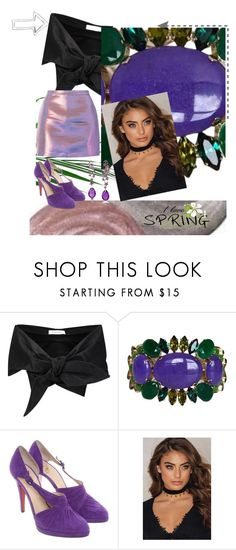 """""""I love Spring"""" by andrea-pok on Polyvore featuring Marques'Almeida, Philippe Ferrandis, Christian Louboutin, Lydia Courteille, Spring, create and yourstyle"""