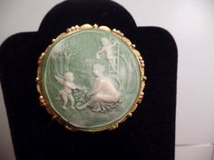 1960's Resin Faux Cameo-Large Size by Jewelboy on Etsy