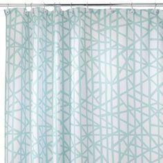"InterDesign Lino Shower Curtain - Blue (72x72"")"