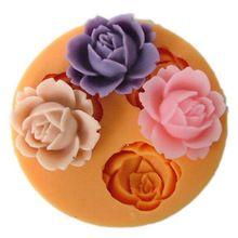 2016 venda quente 3D flor Silicone Mold Chocolate Fondant bolo Sugarcraft Baking decoração Tool New Arrivals(China (Mainland))