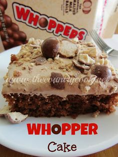 Whopper Cake (Malted Milk Chocolate Cake}