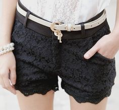 Ships from China ^^ Measurements:  Small: Waist - 66cm Hips - 88cm Length - 30cm  Medium: Waist - 70 cm Hips - 92cm Length - 30cm  Large: Waist - 74cm Hips - 96cm Length - 32cm  The belt shown in the photo does not come along with the shorts.