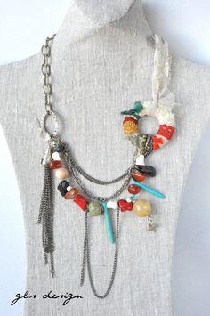 sale sale  free shipping handmade  necklace gemstone necklace,statement necklace via Etsy