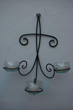 Candelabro de navidad herreria pinterest candelabros - Candelabros de pared ...