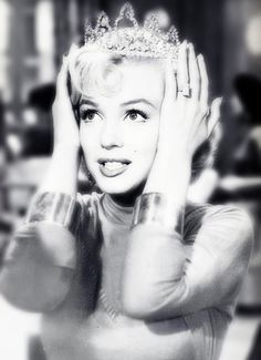 """I just love finding a new place to wear diamonds!""-Marilyn Monroe in Gentlemen Prefer Blondes"