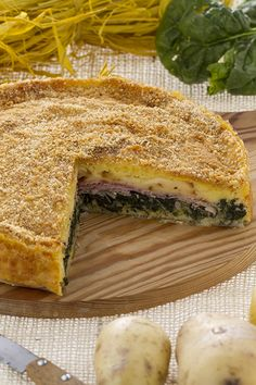 Torta salata di patate e quello che vi piace. Lemon Dream Cake, Frozen Strawberries, Main Dishes, Salads, Yummy Food, Earth, Bread, Cook, Drink