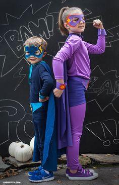 No-Sew Superhero Costume {free template}