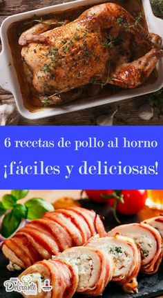 Surprise your family with these 6 baked chicken recipes- Sorprende a tu familia con estas 6 recetas de pollo al horno baked chicken Baked Chicken Recipes, Turkey Recipes, Pollo Recipe, Pollo Chicken, Good Food, Yummy Food, Kids Meals, Food And Drink, Favorite Recipes