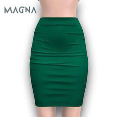 MAGNA - High Pencil Skirt (Jade)