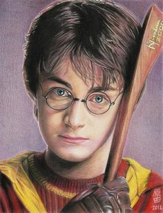 Harry Potter, Daniel Radcliffe. Colored pencils in opalina A4. Harry, I miss you!! featured by: