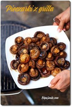 Grilled Mushrooms, Stuffed Mushrooms, Grilling, Bbq, Food And Drink, Menu, Lunch, Vegetables, Cooking