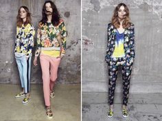 MSGM Resort 2014 - though I'd never wear it, I love the floral suit and the fabulous 'painterly' top underneath.