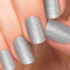details: Incoco Nail Polish Strips, Silver Glitter, Bling Bling