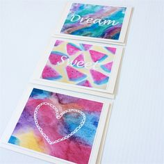 Watercolour Art Blank Set of 6 Greeting Cards for all Occasions