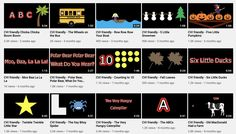 CVI-friendly videos for children with cortical visual impairment, using high contrast solid black backgrounds with reduced visual complexity, movement, and bubble words. Multiple Disabilities, Learning Disabilities, Solid Black Background, Environmental Print, Visual Impairment, Chicka Chicka, Preschool Special Education, File Folder Games, Wheels On The Bus