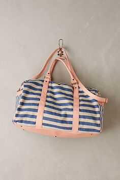 Rosalie Striped Weekender #anthropologie