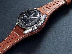 Image of Full Bund Watch Strap 019 Custom Leather Belts, Leather Cuffs, Leather Wallet, Leather Projects, Leather Watch Bands, Leather Design, Leather Working, Luxury Watches, Rolex