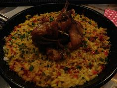 Rabbit and Rice at Le Cabrera in Madrid Spain