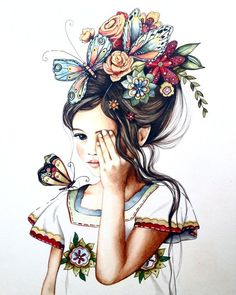 Flowers in her Hair by Claudia Tremblay