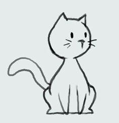 learn how to draw cartoon cute kitty cat step - kitten cartoon drawing Simple Cat Drawing, Cute Cat Drawing, Drawing Ideas, Cat Cartoon Drawing, Kitty Drawing, Drawing Step, Gato Doodle, Cat Steps, Kitten Cartoon