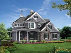 The look I like with just the right amount of living vs. car storage Victorian+House+Plan+with+825+Square+Feet+and+1+Bedrooms(s)+from+Dream+Home+Source+|+House+Plan+Code+DHSW69573