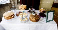 Homemade cake table