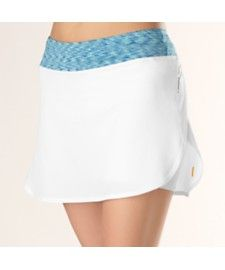 A classic exercise skirt with inner shorts will do you right and keep you looking like a lady no matter what you do.