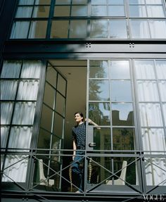 Doors & windows of Tabitha Simmons' NYC townhouse Steel Doors And Windows, Metal Windows, Huge Windows, Grey Windows, Ceiling Windows, Metal Doors, Metal Facade, Industrial Windows, Casement Windows