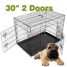 Goplus Brand New 24''/30'/36'/42' Wire Folding Pet Crate Dog Cat Cage Suitcase Exercise Playpen >>> Hurry! Check out this great product : Dog cages