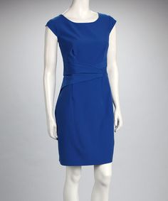 Take a look at this Voir Voir Royal Cap-Sleeve Dress by Voir Voir on #zulily today!
