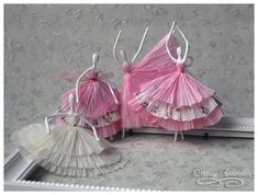 Paper Napkin Ballerinas Tutorial