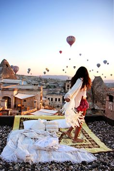 Last time I went to Turkey, I was up there in one of the balloons. Next time, I'll stay down and do this instead!