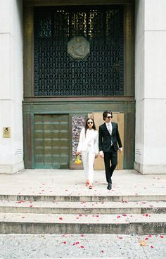 How To Get Married At City Hall Cool Girl Wedding Guide inside writer Molly Young + graphic designer Teddy Blanks' City Hall wedding Dream Wedding, Wedding Day, Wedding Halls, Wedding Ceremony, Wedding Stuff, Wedding Venues, Wedding List, Autumn Wedding, Wedding Planner