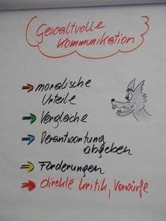 Im Gegensatz zur gewaltfreien Kommunikation urteilt die gewaltvolle Kommunikation über das Gegenüber.