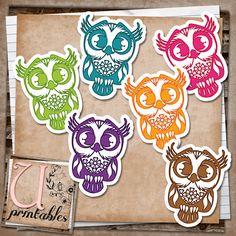 U printables by RebeccaB: FREE Printable - Owls
