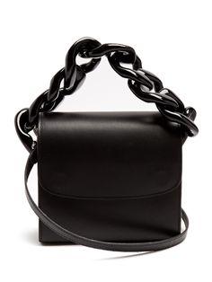Marques'Almeida Oversized curb-chain leather shoulder bag | Architect's Fashion