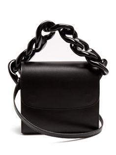 88ea97ef87e2 Marques Almeida Oversized curb-chain leather shoulder bag
