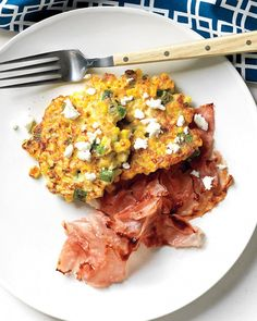 Corn Cakes with Goat Cheese - Martha Stewart Recipes