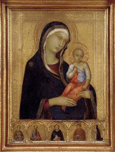 Simone Martini:  Virgin and Child  (Isabella Stewart Gardner Museum, Boston)