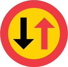B6 – Väjningsplikt mot mötande trafik