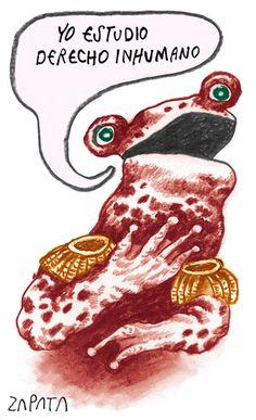 Caricatura de Zapata sobre derechos humanos. Caracas, 14-05-2012 (PEDRO LEON ZAPATA / ARCHIVO EL NACIONAL).